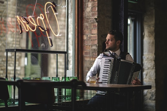 Jonny Kerry accordionist for hire